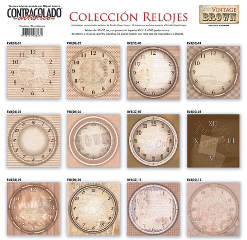 27 acc reloj cuadrante for Reloj de pared vintage 60cm