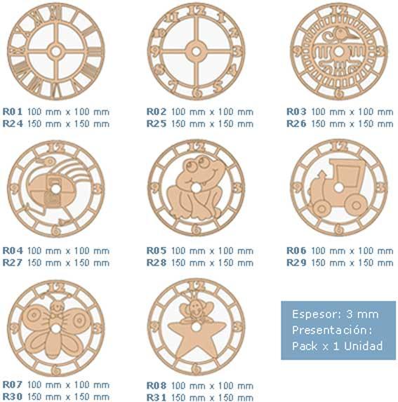 27 acc reloj cuadrante - Mecanismos de reloj de pared ...